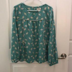 Loft long sleeved blouse